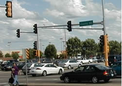 traffic signal at intersection